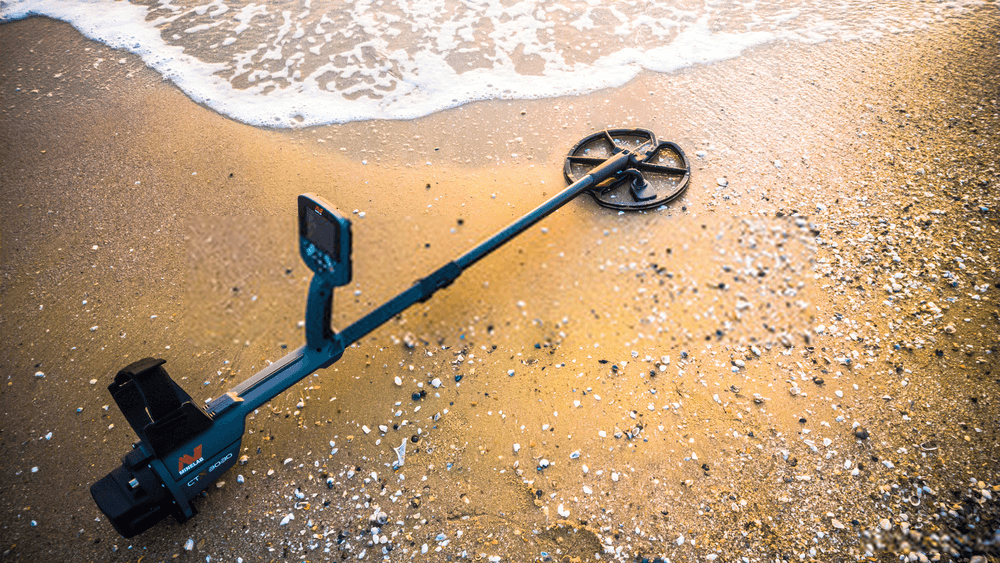 metal detector in the beach